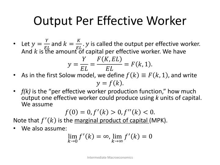 Output Per Effective Worker