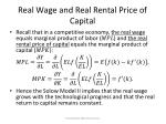 real wage and real rental price of capital