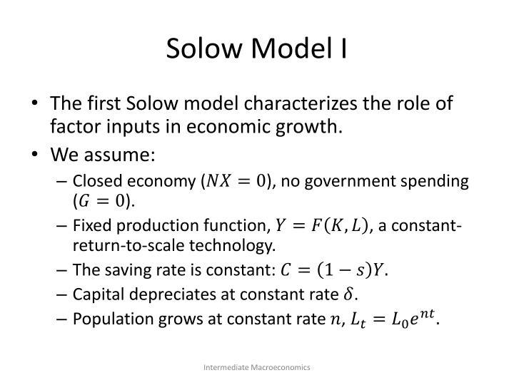Solow Model I