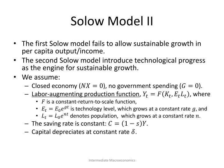 Solow Model II