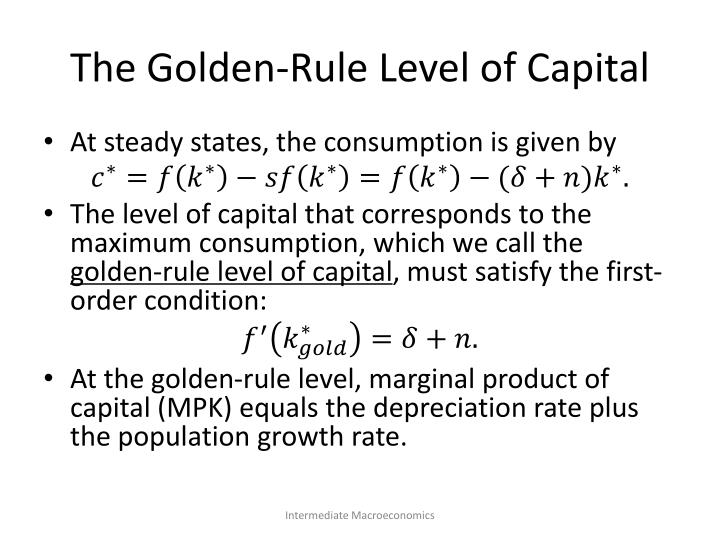 The Golden-Rule Level of Capital