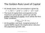 the golden rule level of capital