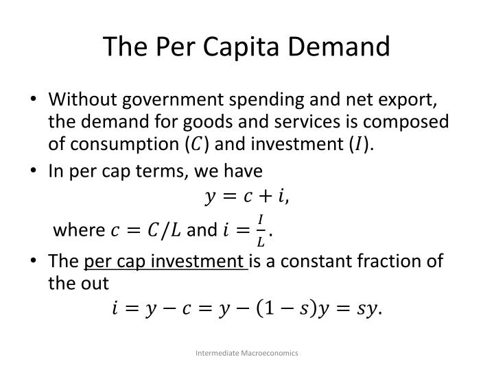 The Per Capita Demand