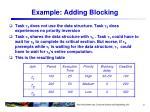 example adding blocking
