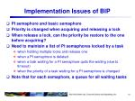 implementation issues of bip