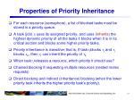 properties of priority inheritance