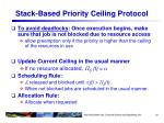 stack based priority ceiling protocol