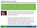 vmware s role in the cloud