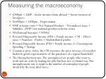 measuring the macroeconomy