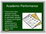 academic performance