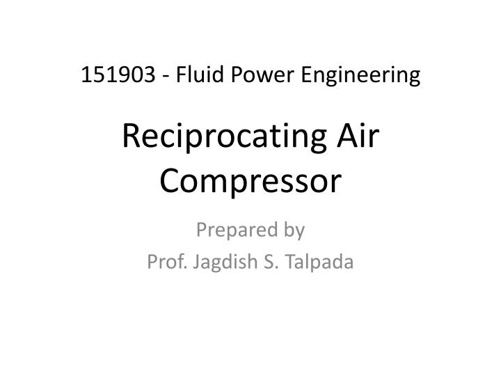 reciprocating air compressor n.