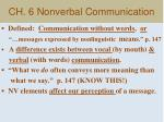 ch 6 nonverbal communication