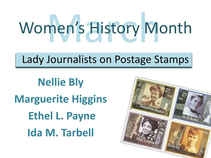 women s history month lady journalists on postage stamps n.