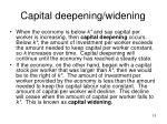 capital deepening widening
