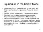 equilibrium in the solow model