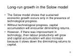 long run growth in the solow model
