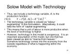 solow model with technology