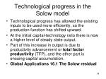 technological progress in the solow model1