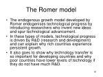 the romer model