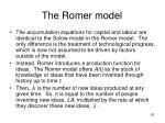 the romer model2