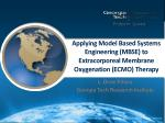 applying model based systems engineering mbse to extracorporeal membrane oxygenation ecmo therapy