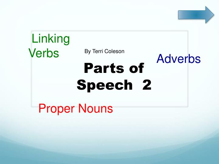 parts of speech 2 n.