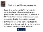 national well being accounts