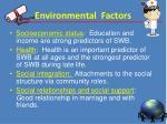 environmental f actors