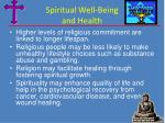 spiritual well being and health