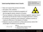 understanding radiation heat transfer