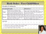 birth order first child oldest1