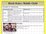 birth order middle child