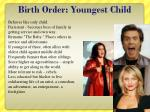 birth order youngest child