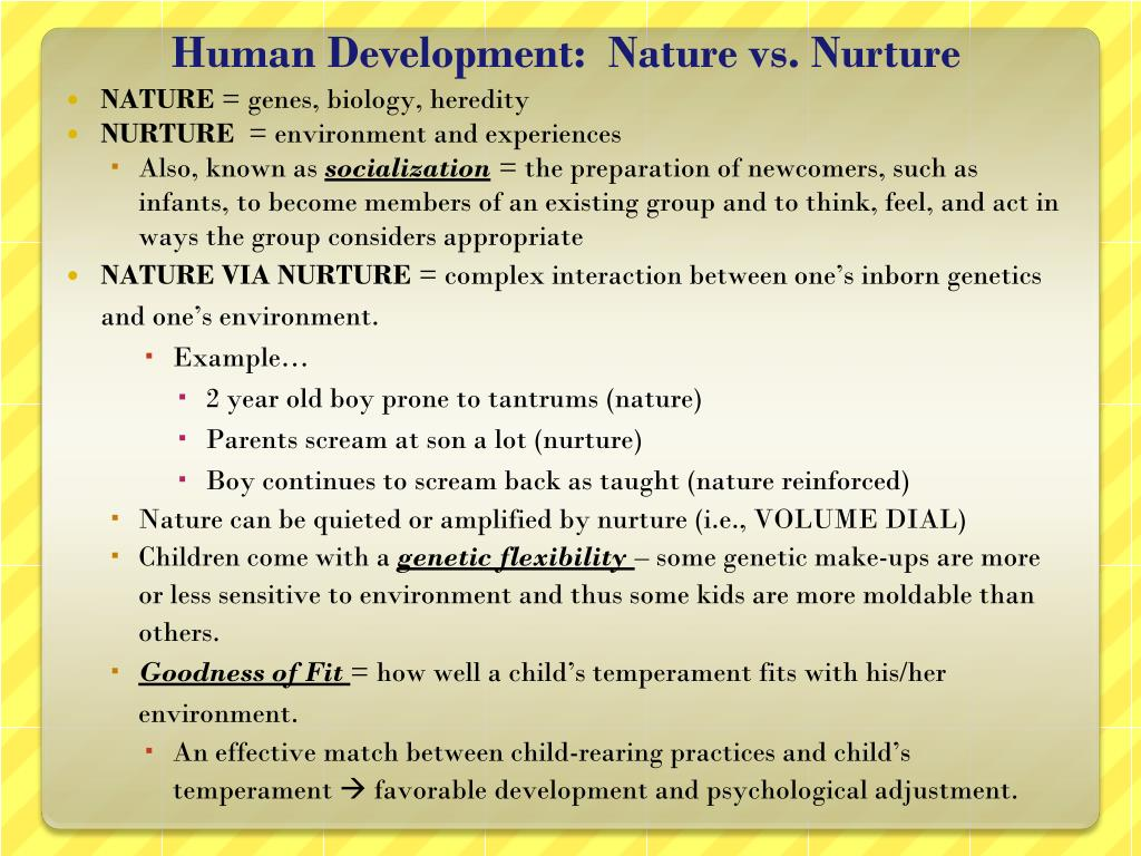 what is the concept of nature vs nurture