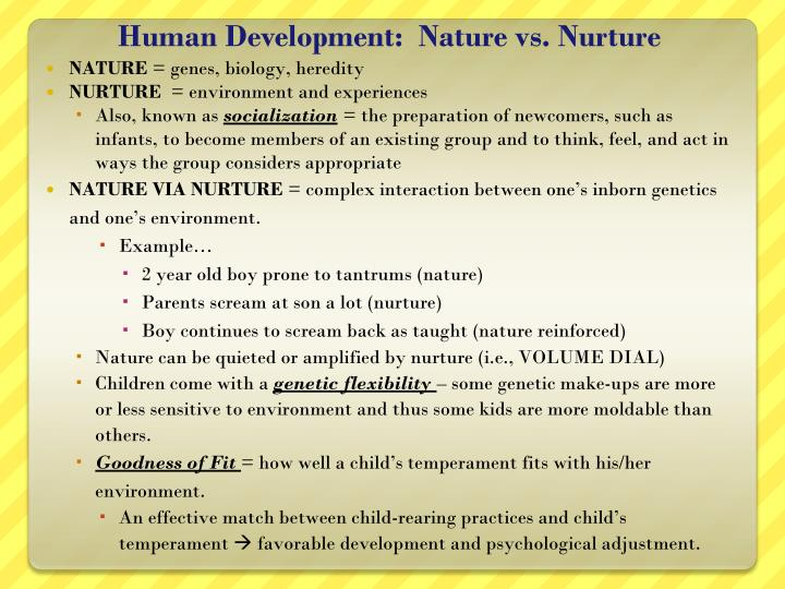 human development nature vs nurture n.