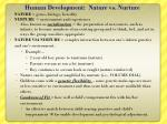 human development nature vs nurture