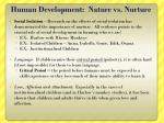 human development nature vs nurture1
