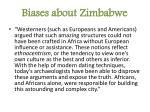 biases about zimbabwe