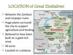location of great zimbabwe