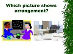 which picture shows arrangement