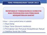 tema pembangunan tahun 2013