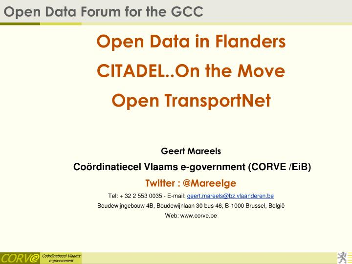 open data forum for the gcc n.