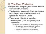 iii the first christians