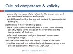 cultural competence validity