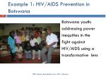 example 1 hiv aids prevention in botswana