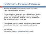 transformative paradigm philosophy