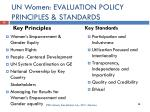 un women evaluation policy principles standards