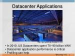 datacenter applications