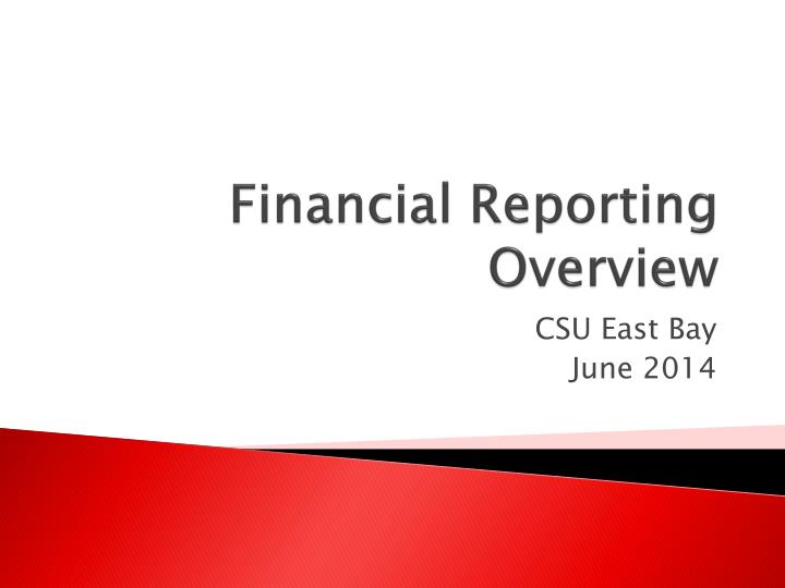 financial reporting overview n.