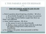i the parable and its message
